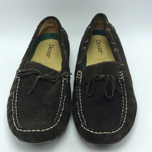 Dexter Brown Suede Driving Moccasin Loafers 10
